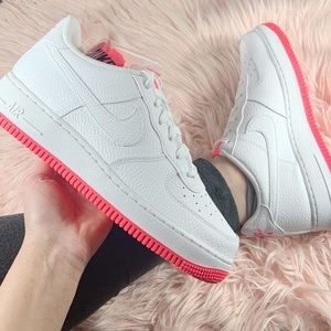 New Nike Air Force 1 Sneakers Pink White